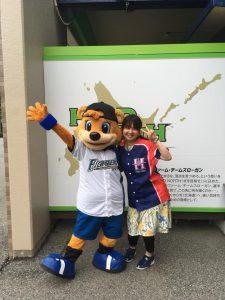 カビーと白坂裕子の2ショット