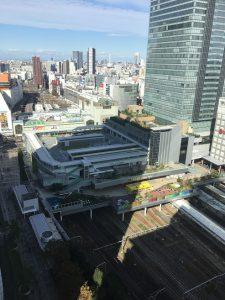 新宿駅の眺め